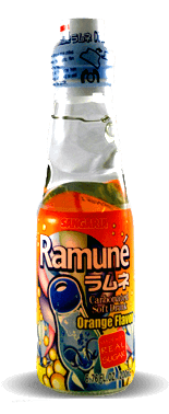 Sangaria Ramune Carbonated Soft Drink - Orange Flavor - Soda Pop Stop