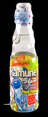 Sangaria Ramune Carbonated Soft Drink – Plum Flavor – Soda Pop Stop
