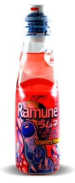 Sangaria Ramune Carbonated Soft Drink – Strawberry Flavor – Soda Pop Stop