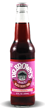 Dr. Brown's Diet Black Cherry Soda – Soda Pop Stop